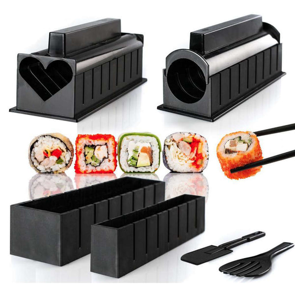 10 Pics/Set Diy Sushi Maker Onigiri Mold Rice Mould Kits Kitchen Bento Accessories Tools