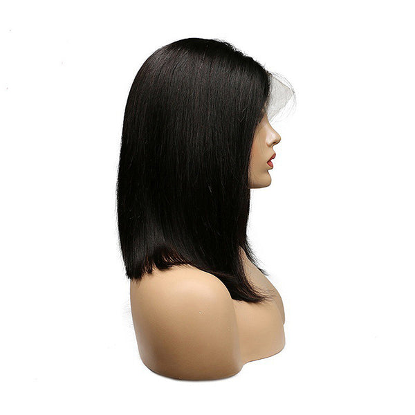 Short Bob Wig Brazilian Remy Hair Straight Lace Front Human Hair Wigs for Black Women Natural Color Lace Wig