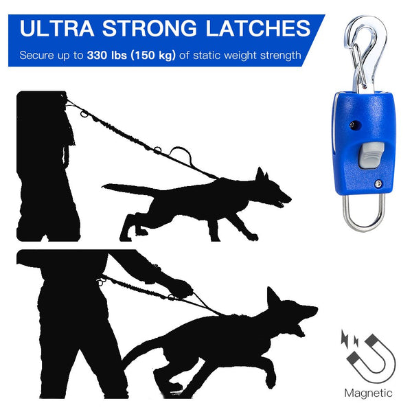 Magic Latch Magnetic Automatic Dog Leash Connector One Press Connection & Release Dog Harness Collar Fastener Especially For Anyone With Hand Or Finger Problems Walking