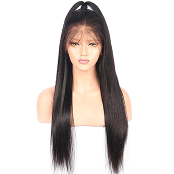 Straight Lace Front Human Hair Wigs With Baby Hair Glueless Lace Front Wigs Bleached Knots Brazilian Remy Hair