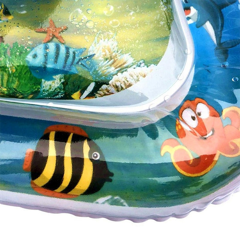 Inflatable Baby Water Mat Fun Activity Play Center For Children And Infants R8W7