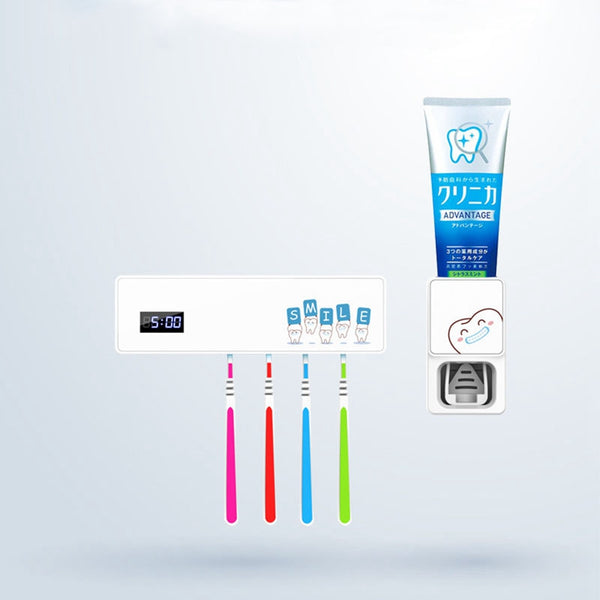 Toothbrush Sterilizer Automatic Toothpaste Uv Disinfection Music Toothbrush Storage Disinfection Machine