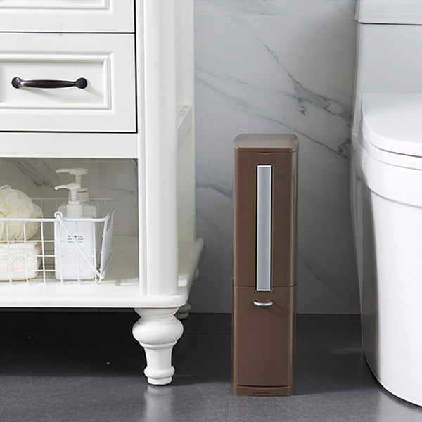 Multi-Function Toilet Brush Integrated Sets With Flip Handle Liner Trash Can Home Bathroom Supplies Storage Box Wide Caliber