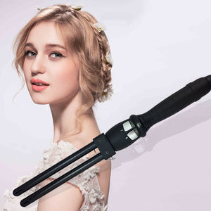 Ceramic Styler 110V-240V 2 Triple Barrel Waver Hair Curler And Curling Iron Curling Wand Curl Double Wand Big Wave Tool