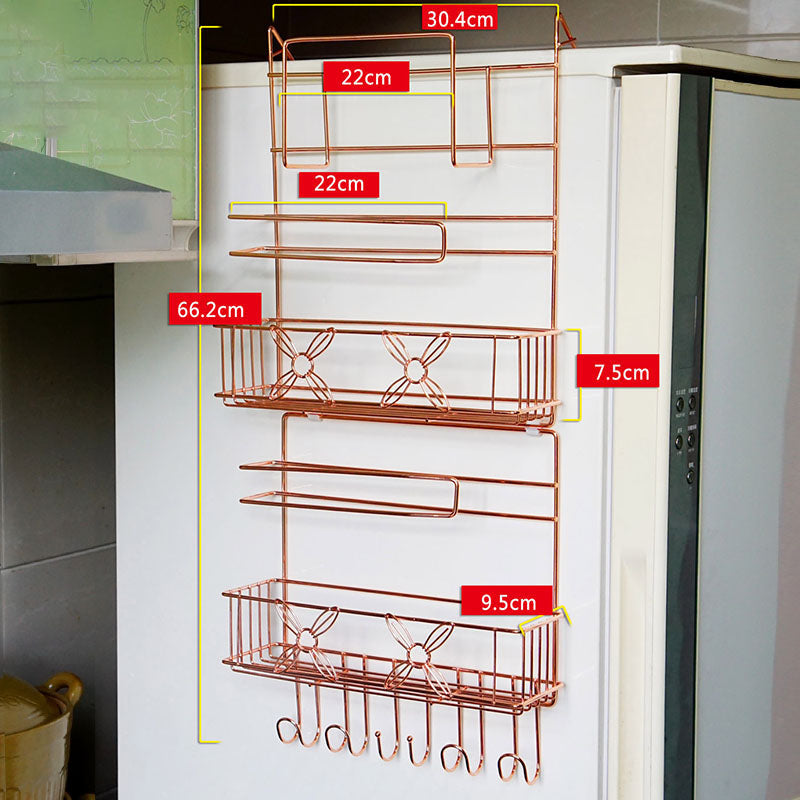 Refrigerator Side Wall Multi-Purpose Rack Kitchen Storage Box