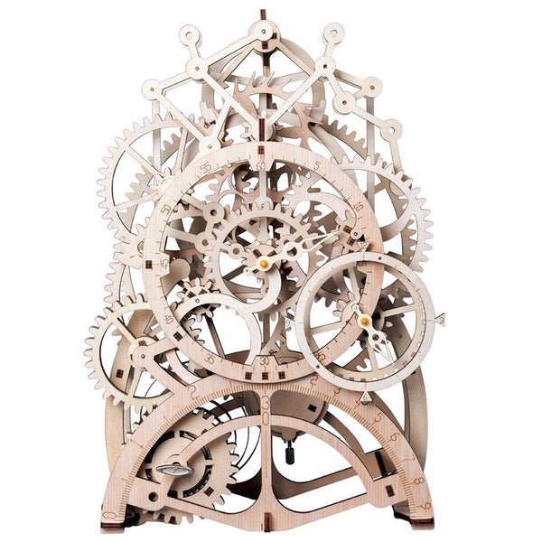 Robotime 3D Puzzle Diy Movement Assembled Wooden Jointed Model For Children Teenage Clockwork Spring Toy Lk501 - Pendulum Clock