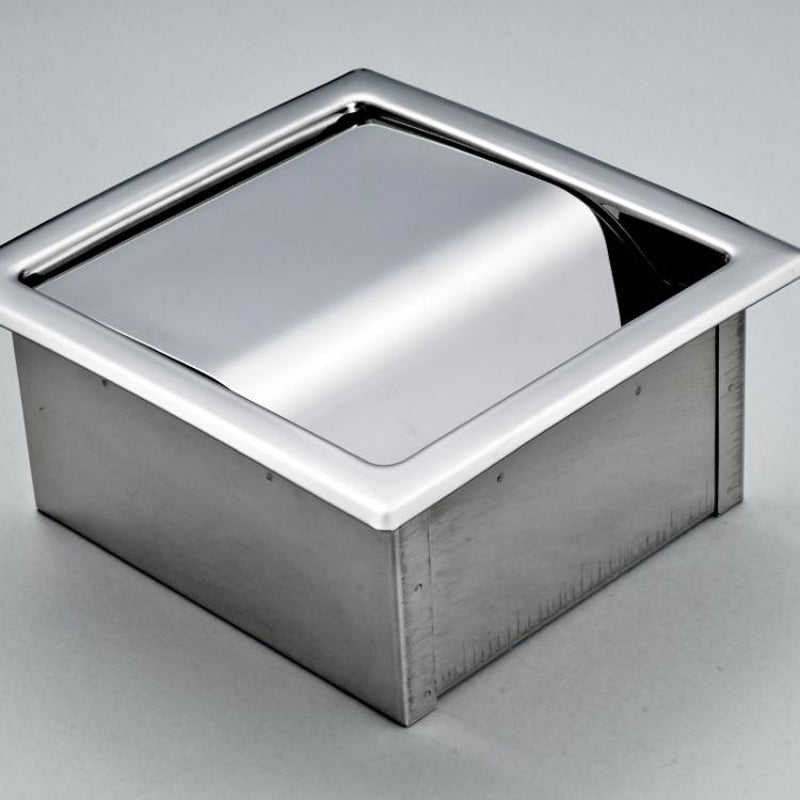 Stainless Steel Toilet Paper Holder Polished Chrome Wall Mounted Concealed Bathroom Roll Paper Box Waterproof