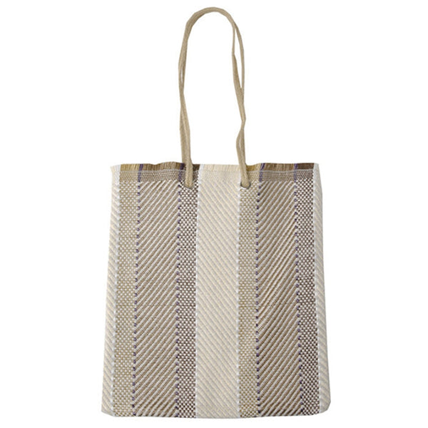 Women Korea Specials Fashionable Woven Canvas Bag Simple Woven Ethnic Wind Tote Bag