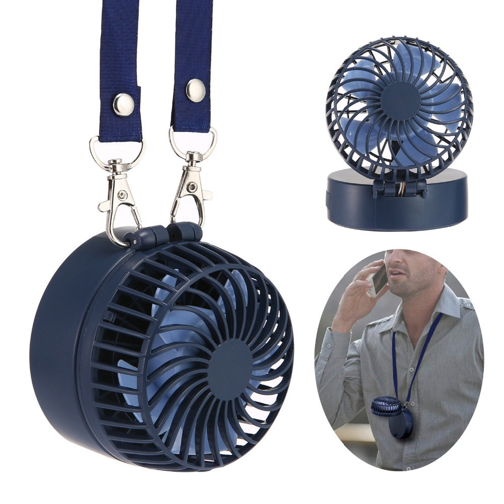 Portable Handheld Fan Mini Portable Outdoor Necklace Fan 3 Speeds 180 Degree Rotating Adjustment For Home Travel