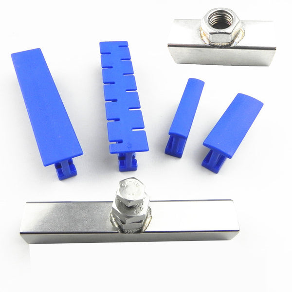 6Pcs Adhesive Blue Glue Tabs Tools Kit For Car Paintless Dent Repair Tool Auto Dent Repair Tools Long Dent Repair Tools
