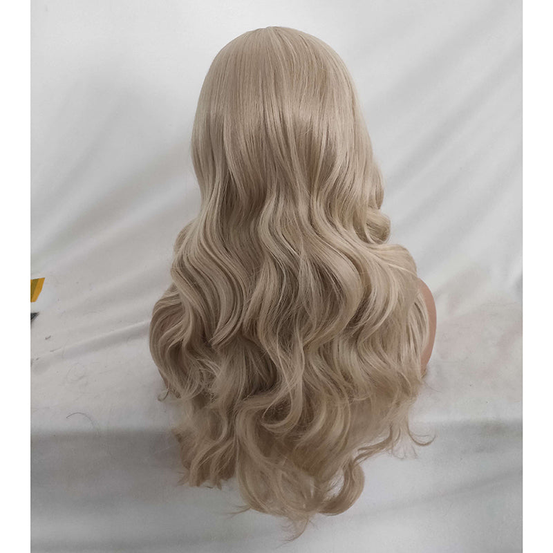 Fashion Realistic Wig Long Curly Hair In Dyeing Chemical Fiber High Temperature Silk Long Curly Hair Cosplay Wigs