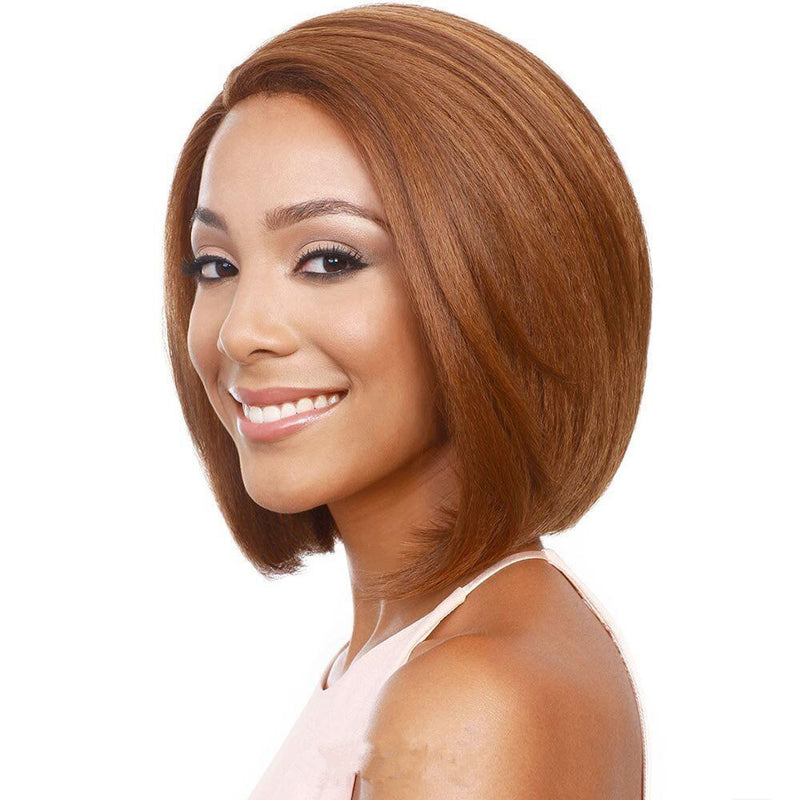 Short Straight Hair Synthetic Hair Full Top Wig Female Natural Wig