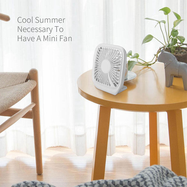 Portable 3 Files Adjustable Mini Usb Charging Noiseless Desktop Electric Fan For Desktop Home Fan Gift Decoration