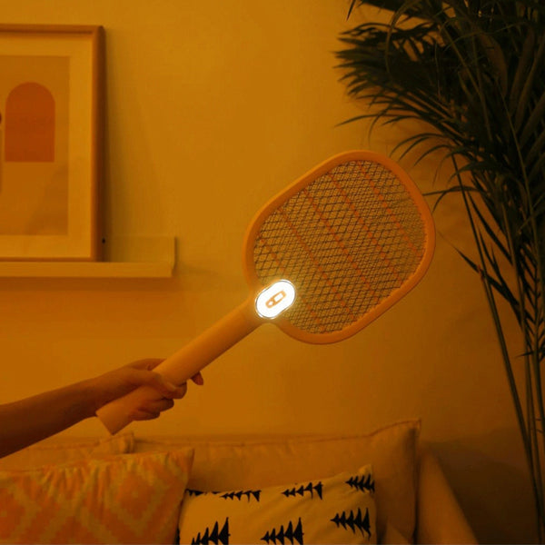 3 Layer Grid Multi-Function Usb Charging Operation Hand-Capping Electric Mosquito Swatter Fly Family Garden Pest Insect Fly Mosquito Zapper Fly Swatter Killer