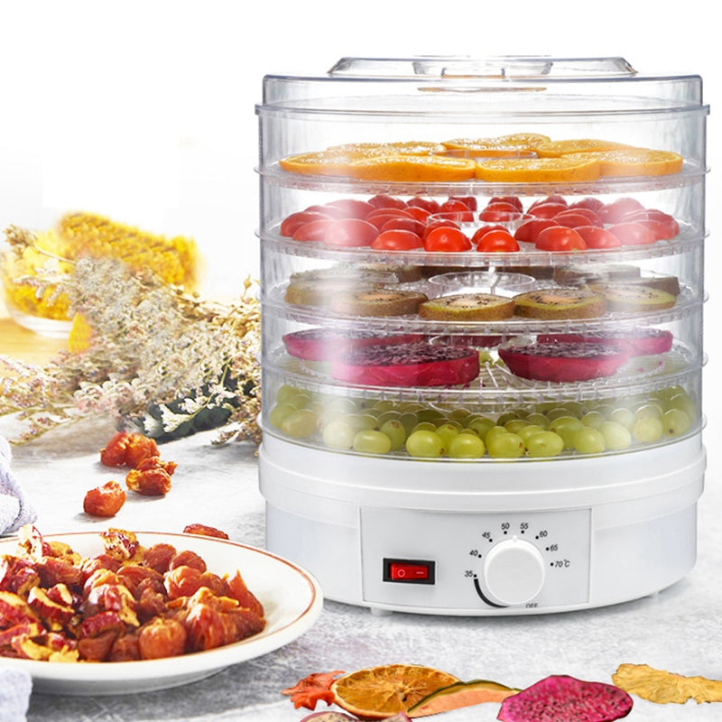 Food Dehydrator Fruit Vegetable Herb Meat Drying Machine Snacks Food Dryer With 5 Trays Eu Plug