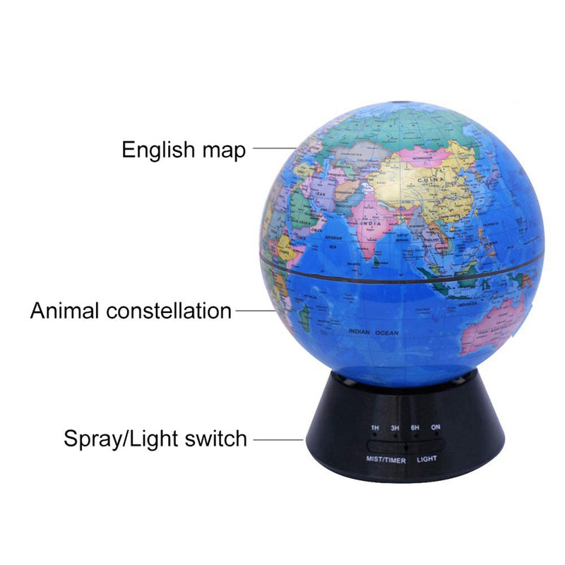 Aroma Diffuser Air Humidifiers Globe Aroma Lamp Aromatherapy Diffuser Mist Maker 7 Led Light Changing For Home Eu Plug
