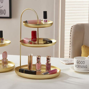 1 Pc Jewelry Rack Three-Layer Solid Practical Storage Tray Hanging Plate Storage Rack Storage Key Earrings Cosmetics
