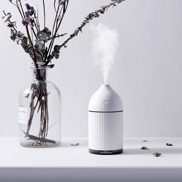 300Ml Aromatherapy Diffuser Usb Ultrasonic Air Humidifier Mist Maker Aroma Essential Oil Diffuser For Home With Led Light
