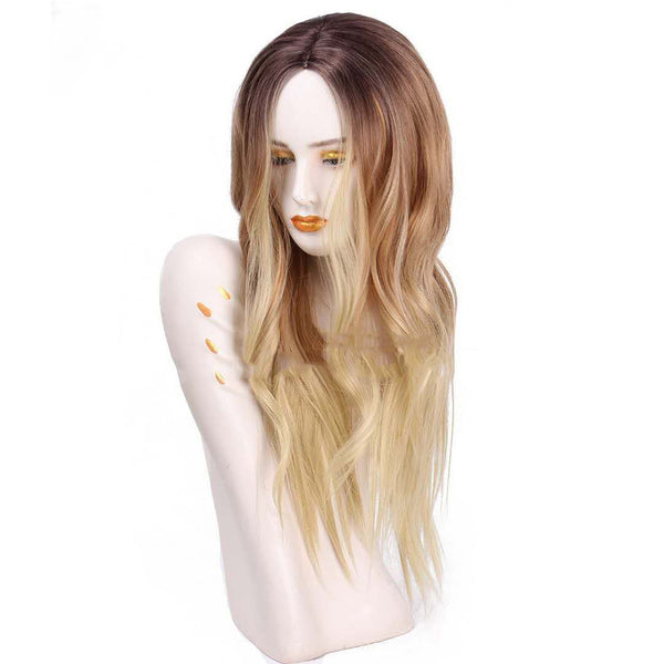 Long Wavy Natural Cosplay Wigs Costume Party Heat Resistant Synthetic Hair