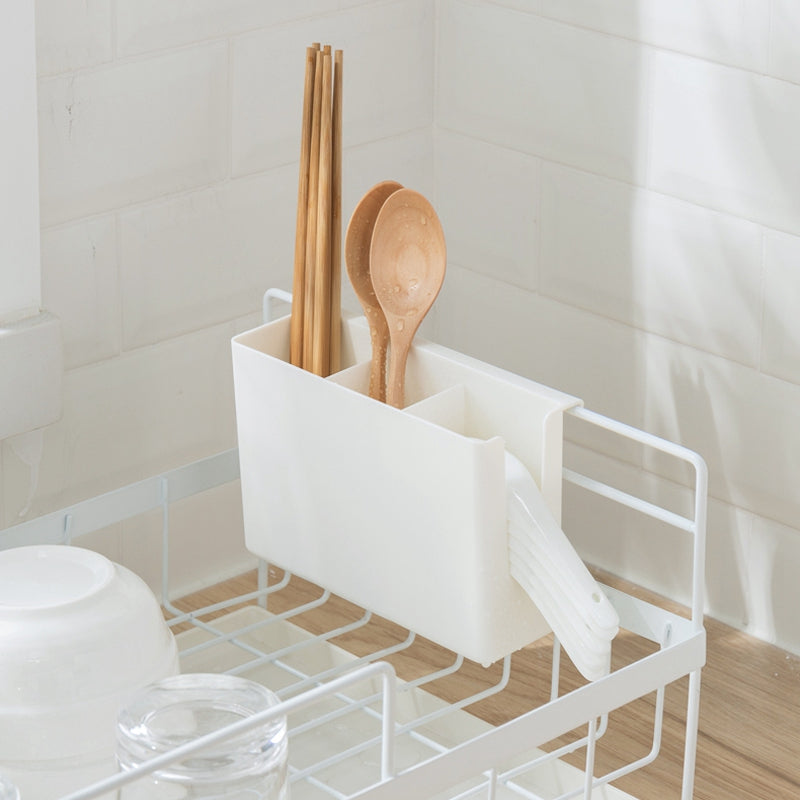 Kitchen Storage Organizer Dish Drainer Drying Rack Kitchen Sink Holder Tray For Plates Bowl Cup Tableware Shelf Basket White
