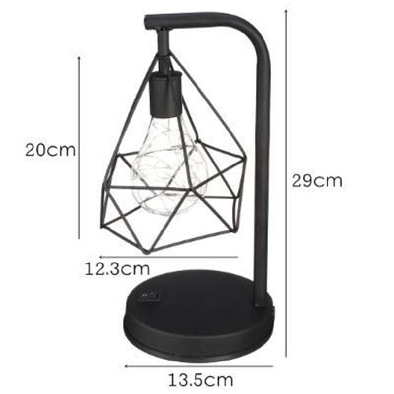 Reading Night Light Table Desk Lamp Home Decoration Retro Hollow Diamond Table Lamps Reading Lamp Night Light Bedroom Desk Lighting