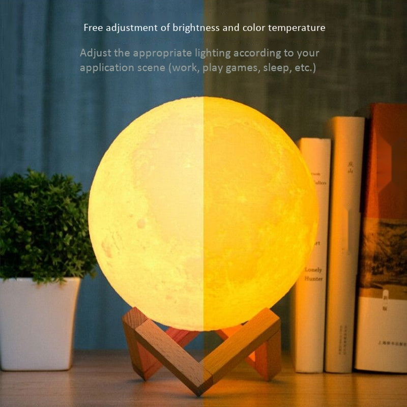 3D Printing Wifi Smart Moonlight Colorful Variable Star Night Light Home Decoration Creative Gift Moon Night Light Light