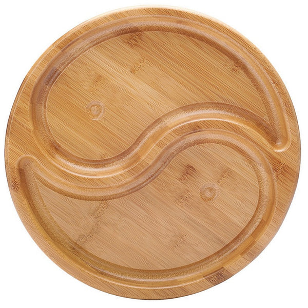 Bamboo Candy Board Fruit Nut Bowl Home Decor Service Tray Display Part Nut Server Fast Food Fruit Tray Rounded Dishes Snack Plate