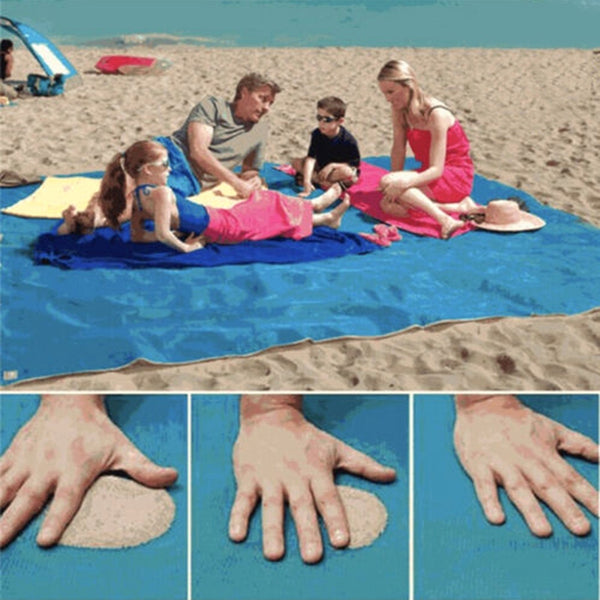 200X200Cm Sand Free Beach Mat Portable Blue Beach Mat Anti-Slip Sand Mats