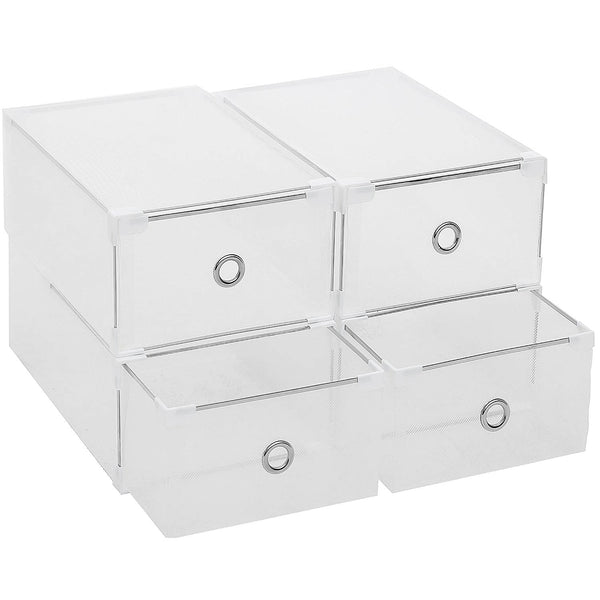 Shoe Storage Box Transparent Plastic Shoes Case Drawer Shoes Holder Stackable Saving Space Home organizer