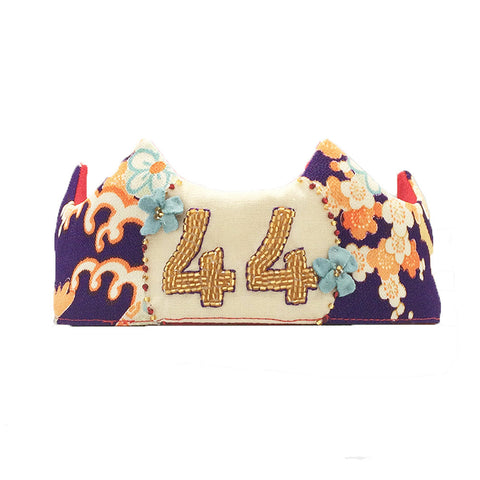 Hand-beaded Custom Crown - Japanese Floral