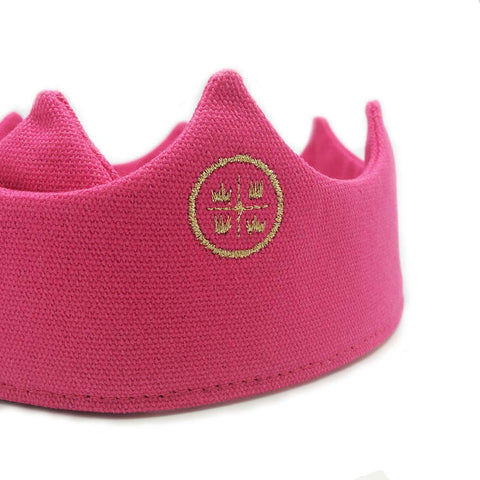 Birthday crown, pink crown, party crown, embroidered crown