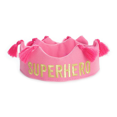 Superhero Tassel Crown - Pink