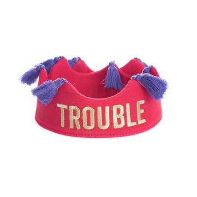 Trouble Tassel Crown - Red
