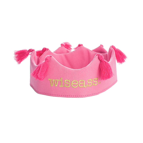 Wiseass Tassel Crown - Pink