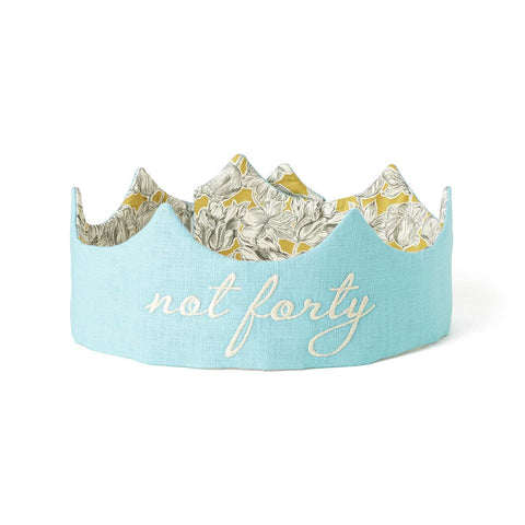 Not Forty Birthday Crown - Aqua