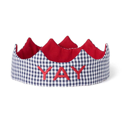 YAY Crown - Black gingham