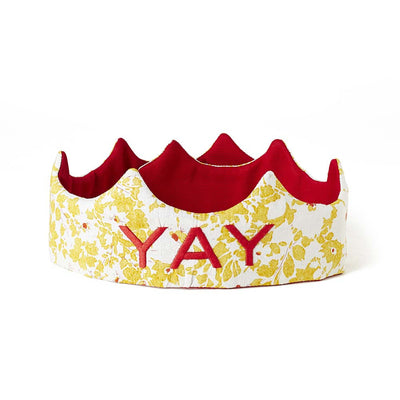YAY Crown - Yellow floral