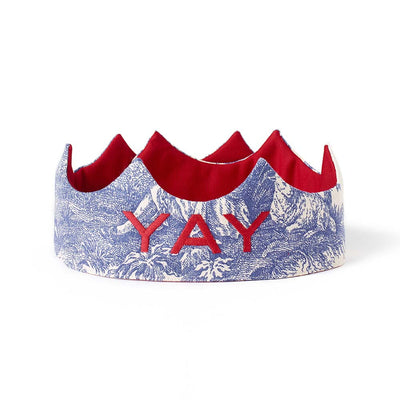 YAY Crown - Blue Toile