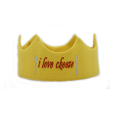 Toddler crown - I Love Cheese