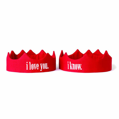 I Love You/I Know Duet Set Crowns