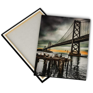 """Old Pier, Bay Bridge"" - Gallery Wrapped Canvas by Bobby Lee"