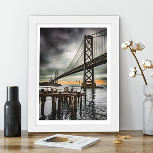 """Old Pier, Bay Bridge"" - Photographic Print by Bobby Lee"