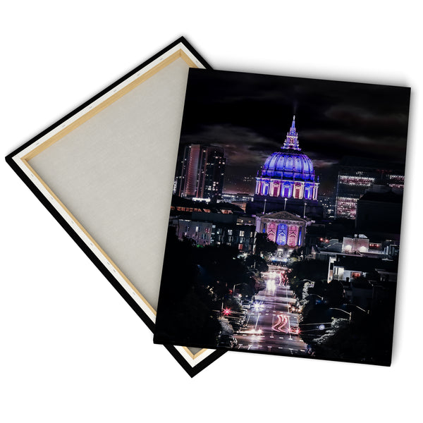 """San Francisco City Hall"" - Gallery Wrapped Canvas by Bobby Lee"