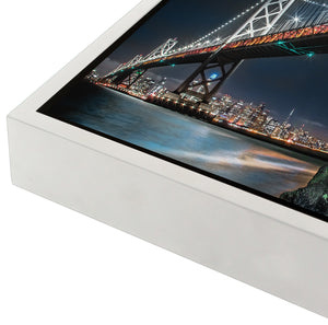 """San Francisco Bay Bridge By Night"" - Gallery Wrapped Canvas by Bobby Lee"