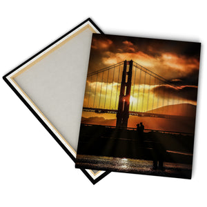 """Couple By Golden Gate"" - Gallery Wrapped Canvas by Bobby Lee"