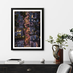 """Lombard Street From Above"" - Photographic Print by Bobby Lee"
