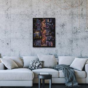 """Lombard Street From Above"" - Gallery Wrapped Canvas by Bobby Lee"