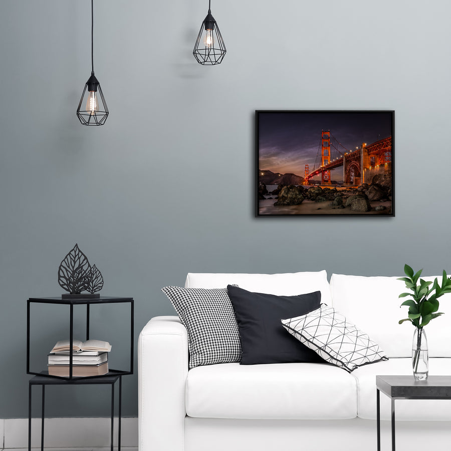 """Golden Gate Bridge"" - Gallery Wrapped Canvas by Bobby Lee"