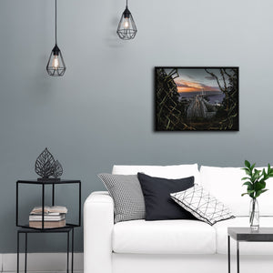 """Bay Bridge From Yerba Buena Island"" - Gallery Wrapped Canvas by Bobby Lee"