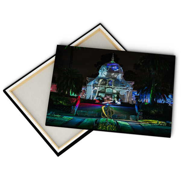"""Conservatory Of Flowers At Night""  - Gallery Wrapped Canvas by Bobby Lee"
